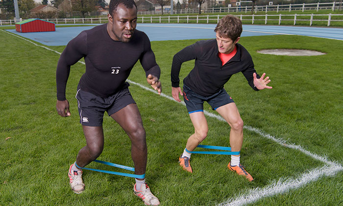 Préparation Eugène Nzi - LOU Rugby
