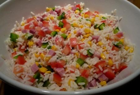 salade de riz-apport complet